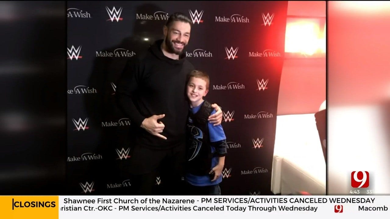 Make-A-Wish Introduces Young Cancer Survivor From Cashion To WWE Superstar