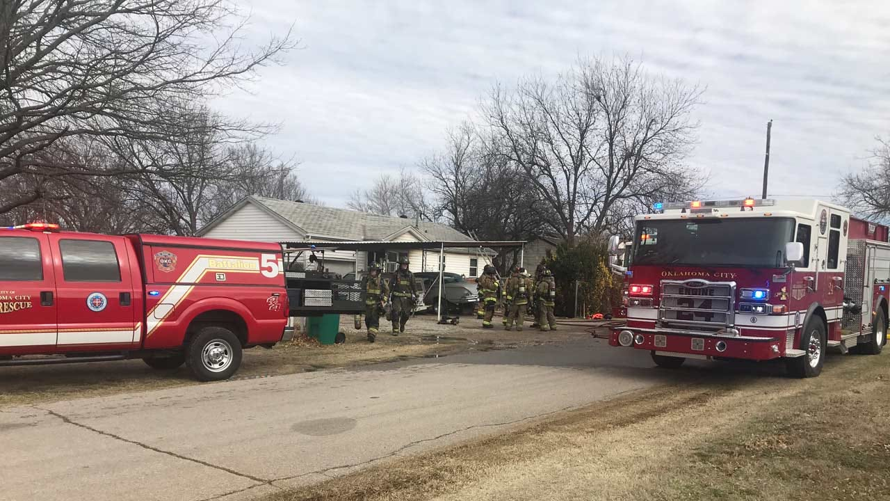 OKC Fire: No Injuries Reported During Accidental House Fire
