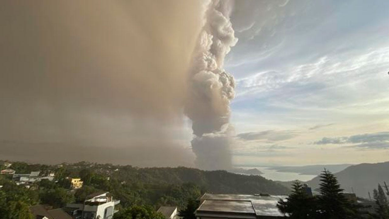 Mass Evacuations Possible As Philippines Volcano Erupts