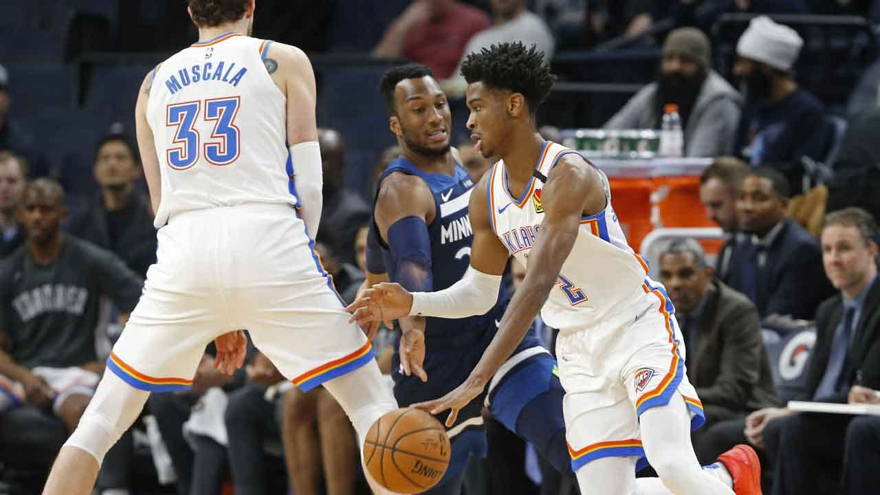 Gilgeous-Alexander's First Triple-Double Leads Thunder Past Timberwolves