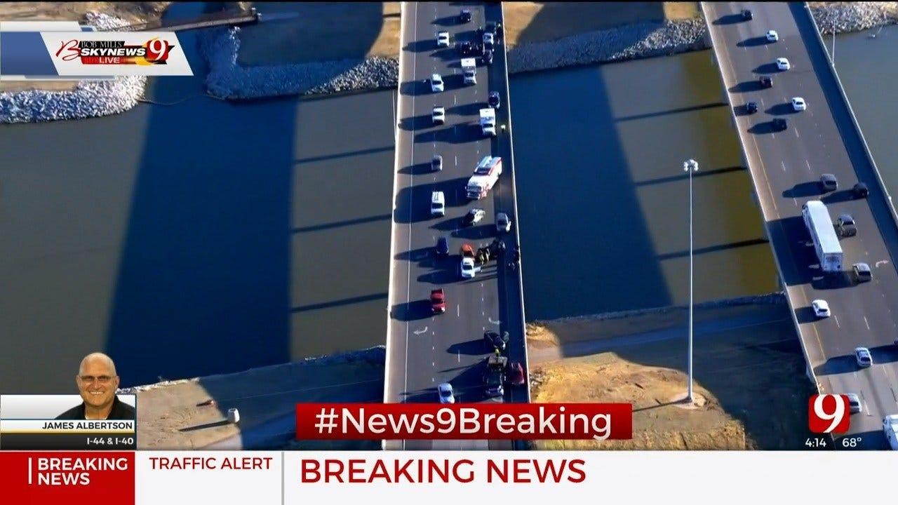 Multiple-Vehicle Crash Blocks Lanes Of Traffic At I-44 Near I-40