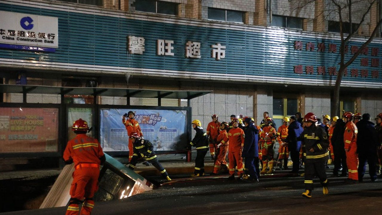 Sinkhole Swallows Bus In China, Killing At Least 6 People