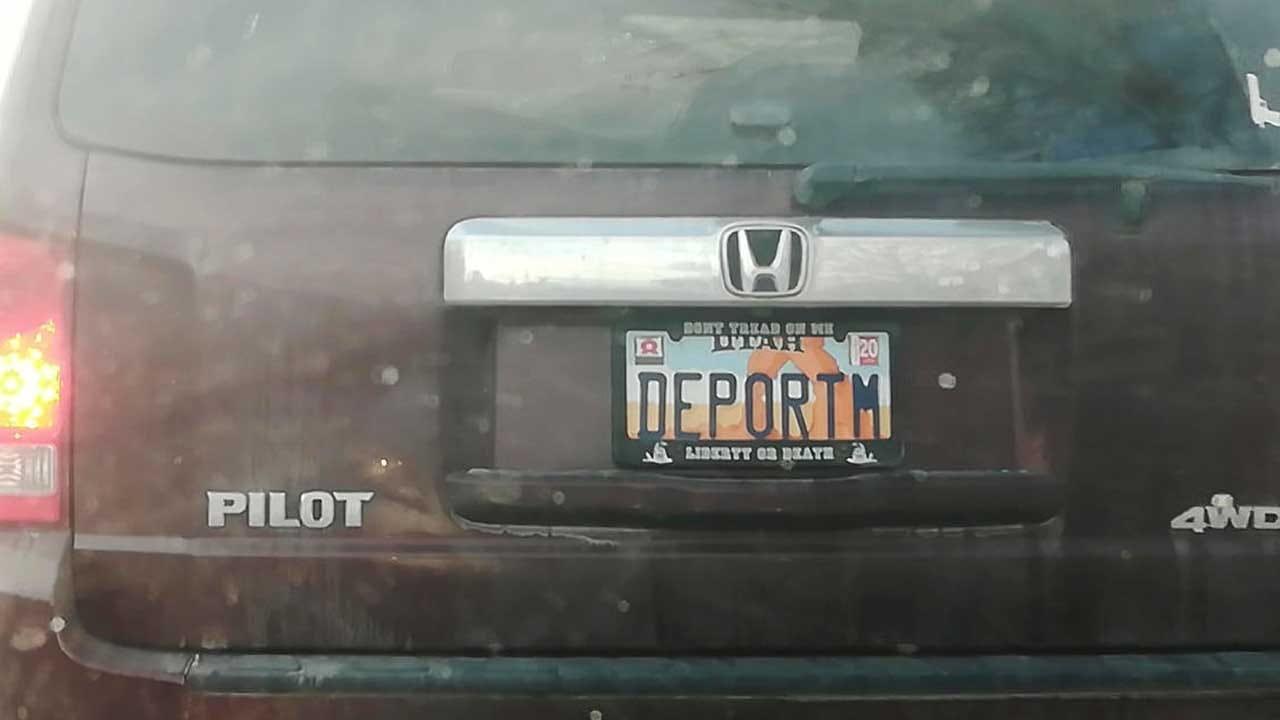 'DEPORTM' License Plate Raising Eyebrows In Utah