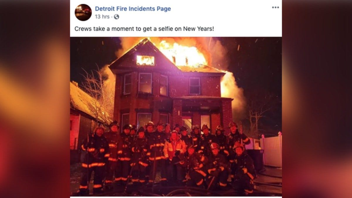 Investigation Launched After Detroit Firefighters Pose For Photo In Front Of Burning House
