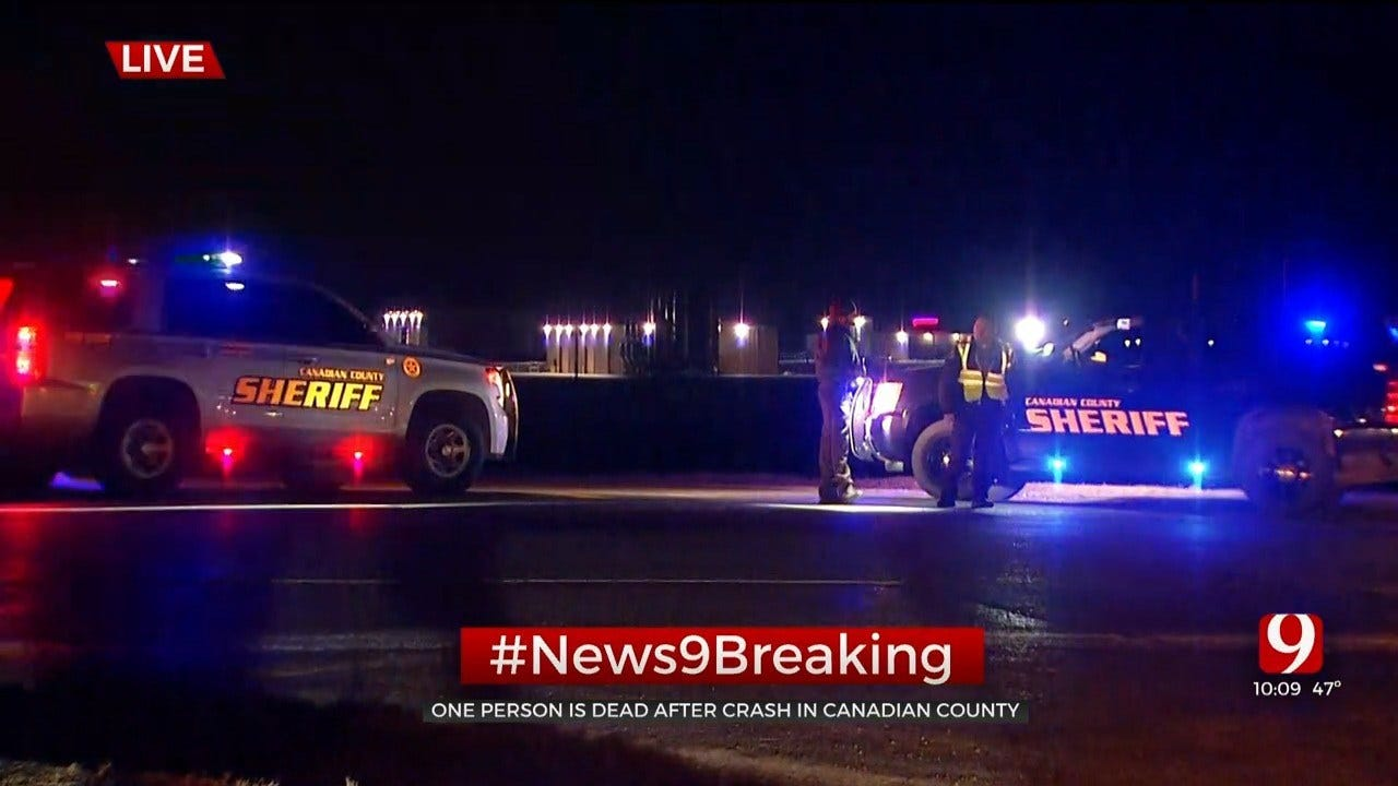 Pedestrian Killed In Crash On EB I-40 Near Banner Road In Canadian County