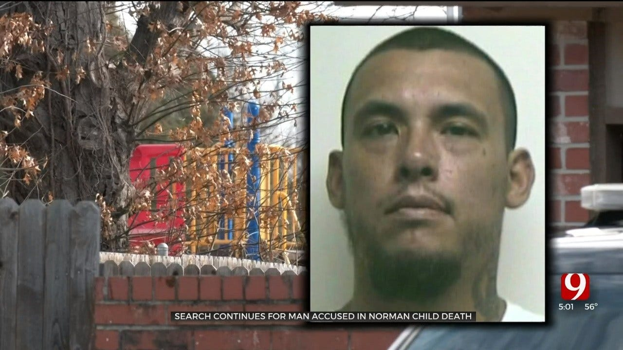 Police Search For Suspect Accused In Death Of Norman 2-Year-Old