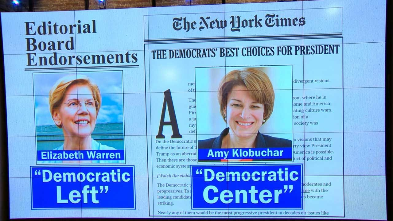 New York Times Endorses 2 Candidates For President For First Time