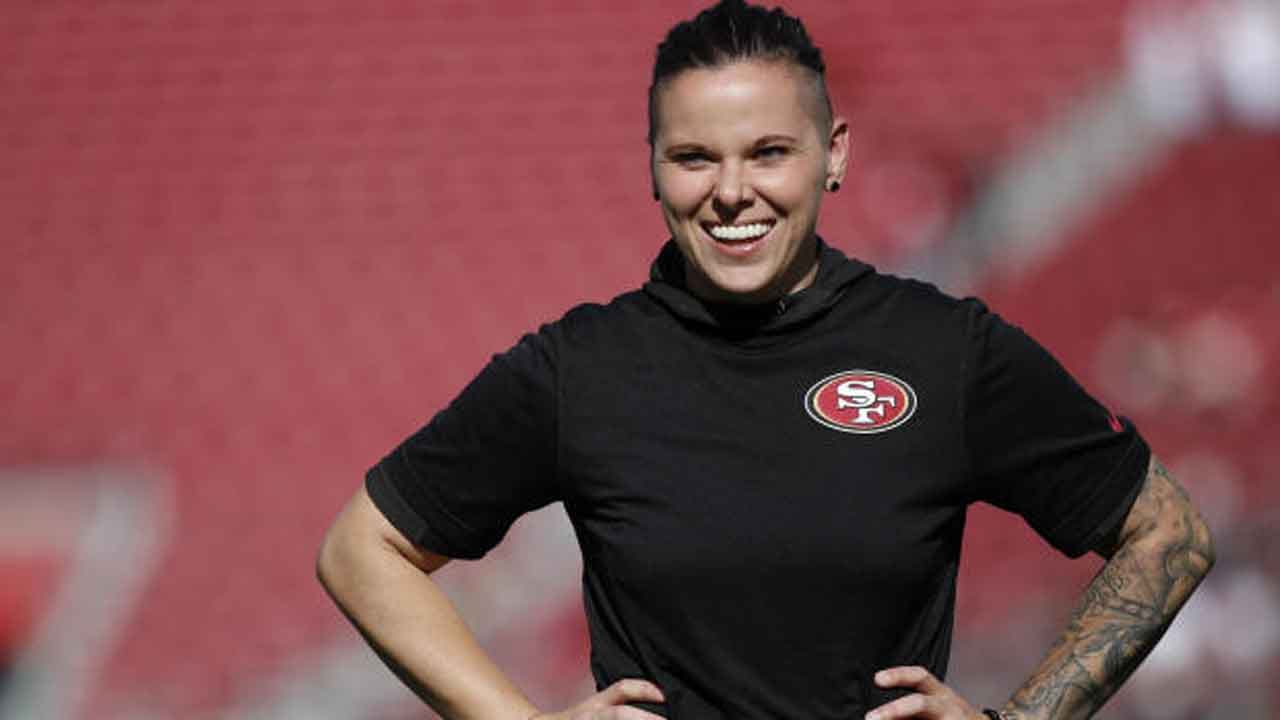 49ers' Katie Sowers To Make History As 1st Female, Openly Gay Person To Coach At Super Bowl