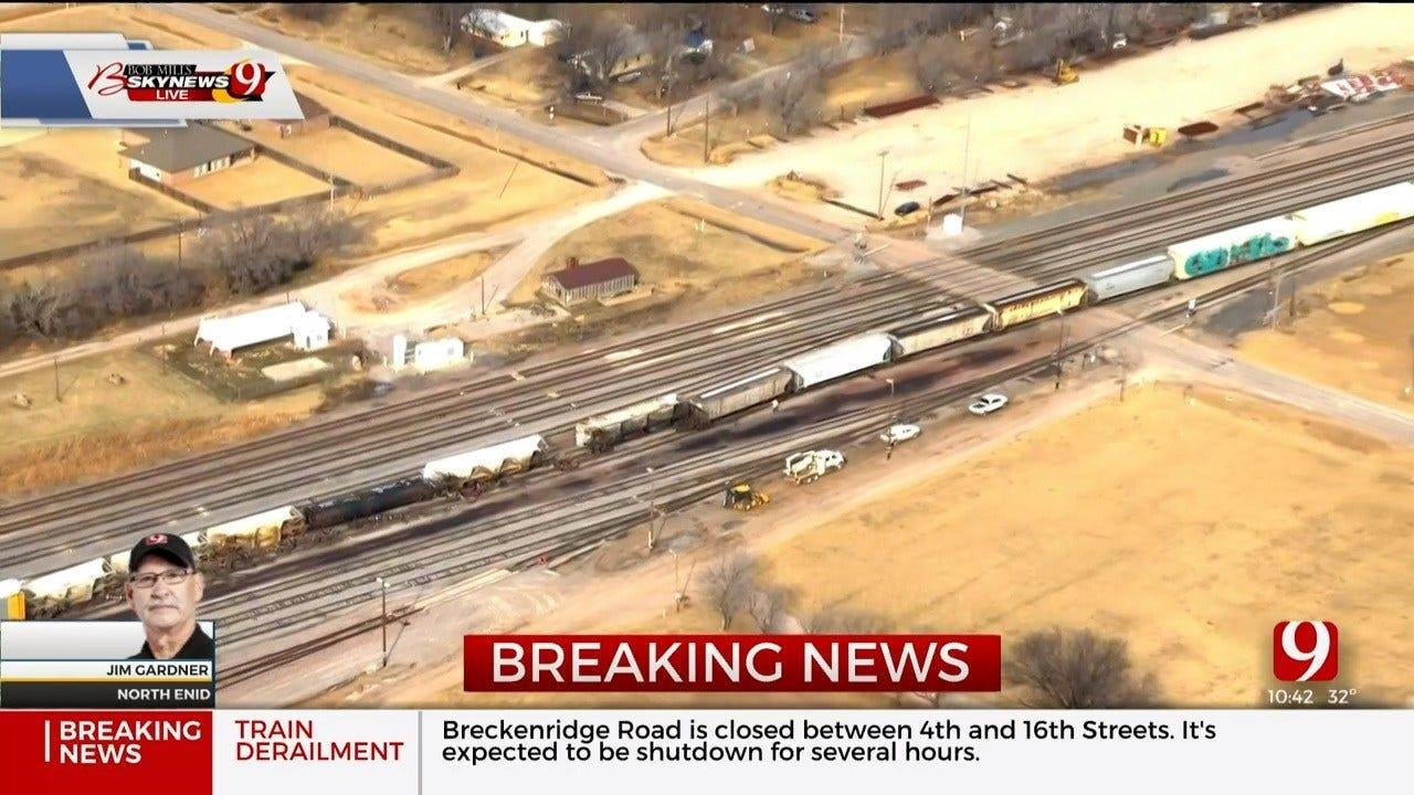 Train Derailment Reported In North Enid