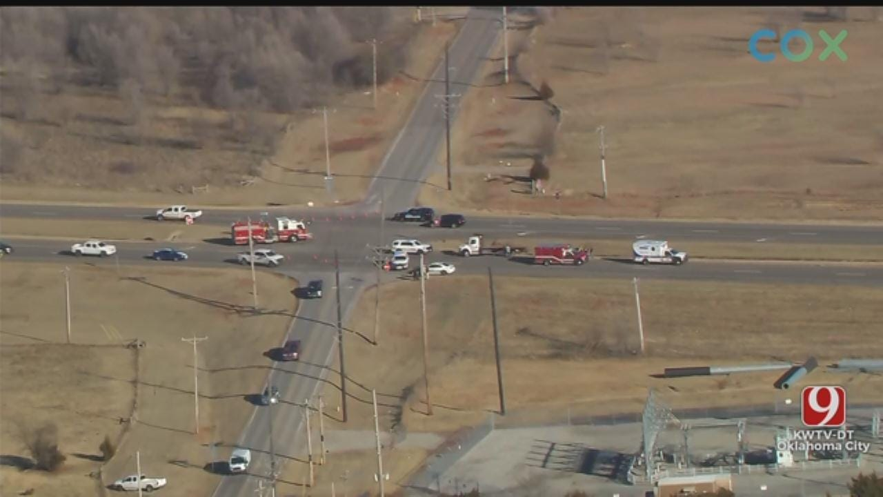 Crash Reported Near Mustang