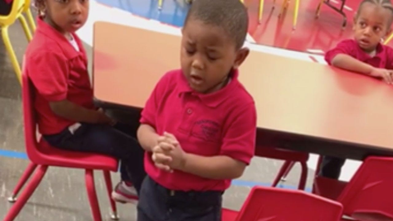 3-Year-Old Boy Goes Viral After Leading Pre-K Class In Prayer