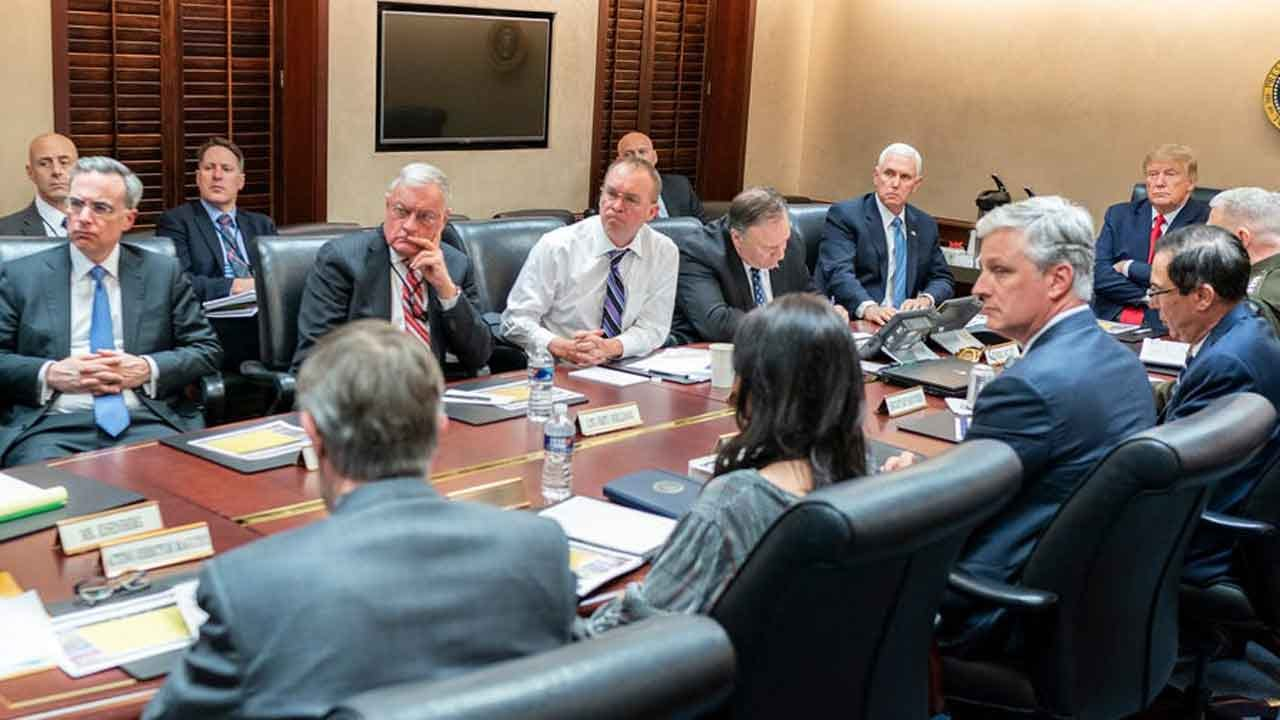 Photo Shows President Trump In The Situation Room The Night Of Iran Missile Attacks