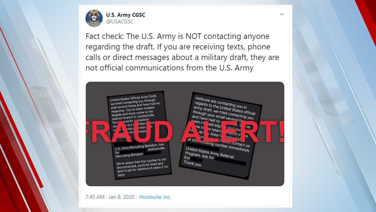 US Army Issues 'Fact Check' On Texts About A Military Draft