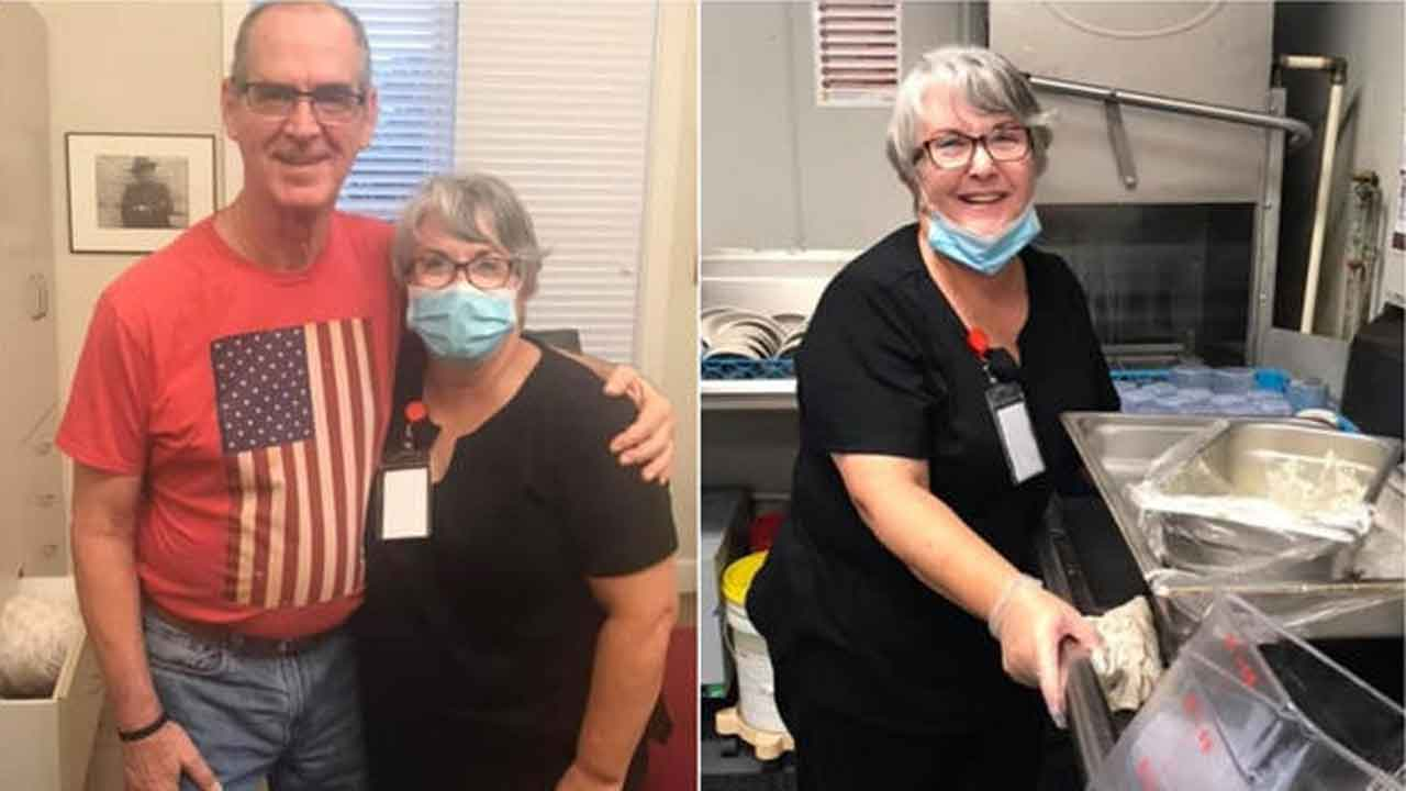 Wife Takes Job As Dishwasher So She Can See Her Husband With Alzheimer's
