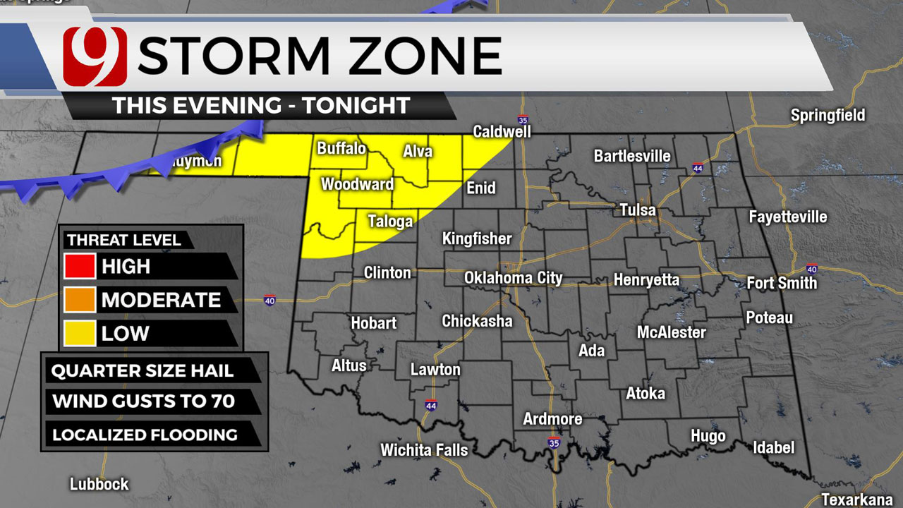 Hot, Humid Morning; Severe Storms Possible Overnight In OKC Metro