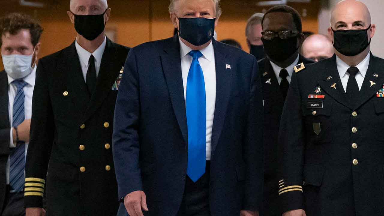 Trump Wearing Face Mask
