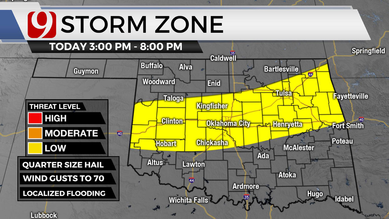 Oklahomans To See Rain, Storm Chances Throughout The Day