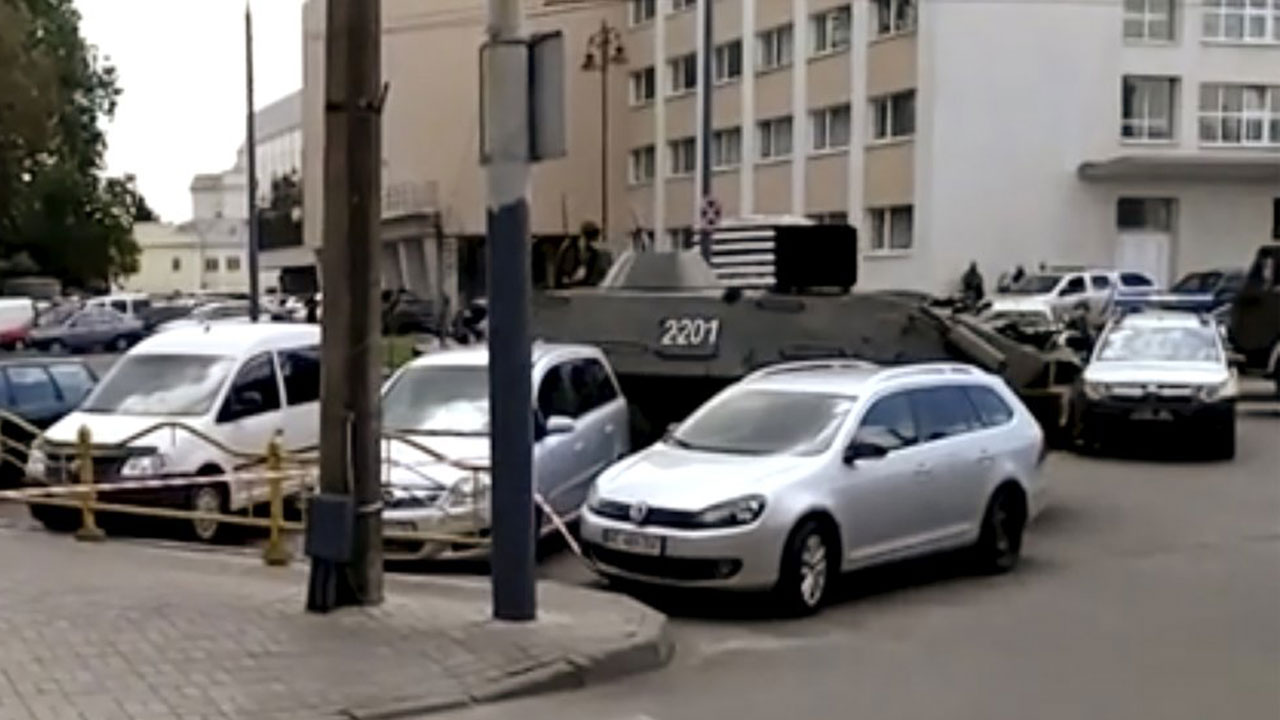 Armed Man Takes Hostages On Bus, Explosives Found Elsewhere In Ukraine