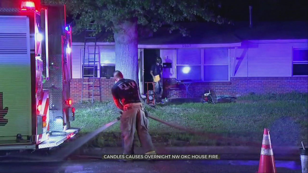 Unattended Candle Causes Overnight Fire In NW OKC