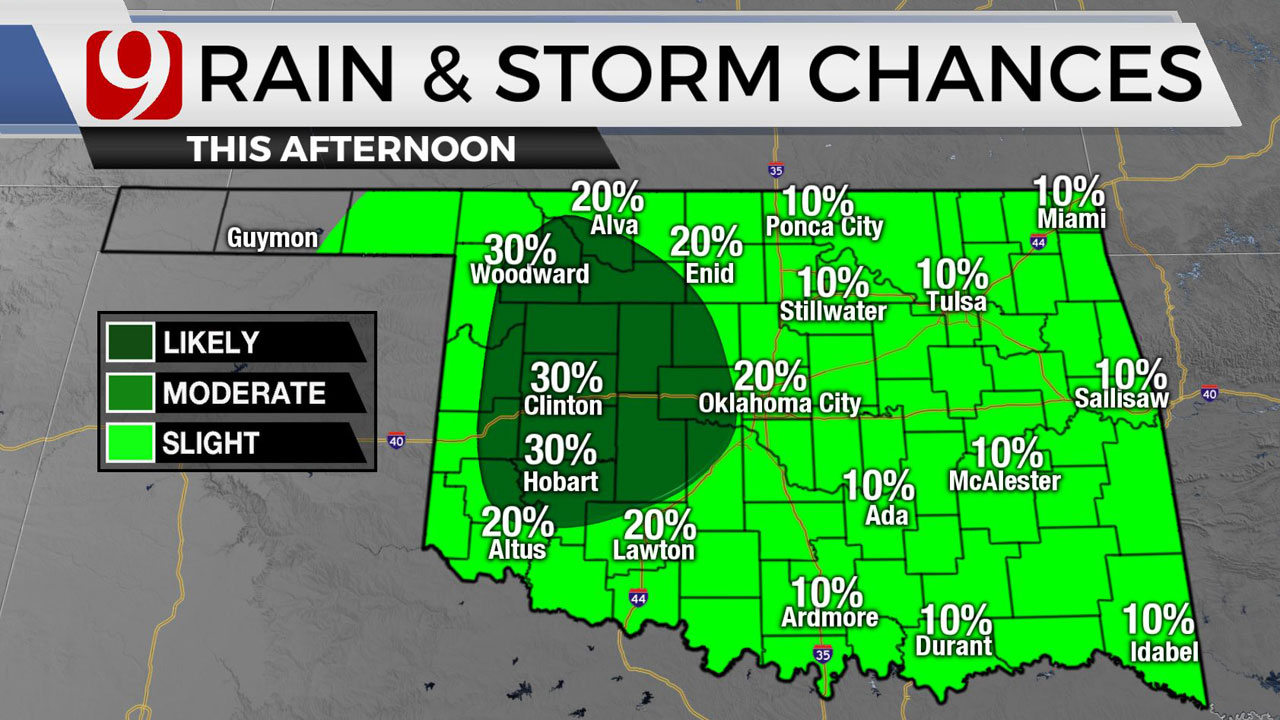 Muggy Thursday With Chances Of Showers, Storms