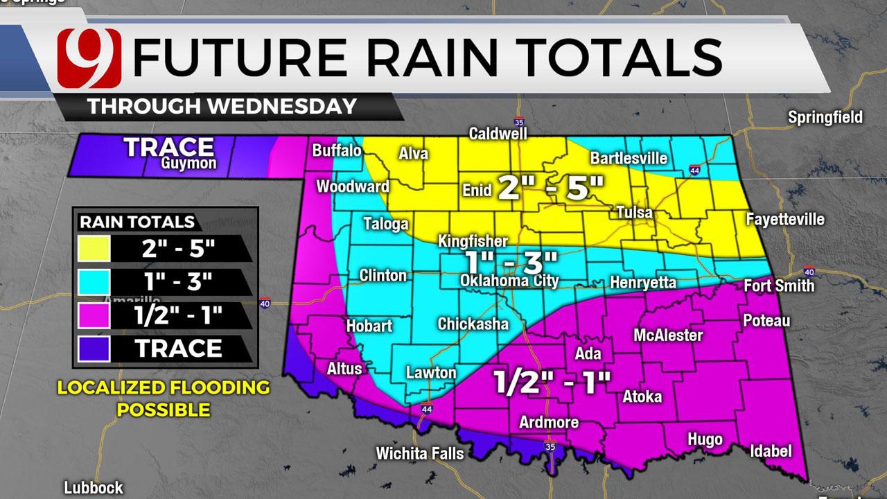 Okla. To See Heavy Rain Fall, Threat Of Flooding