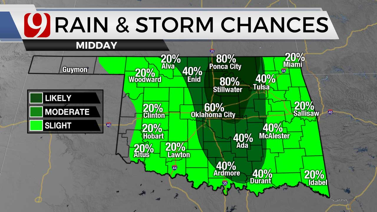 Showers, Storms To Continue Tuesday Through End Of The Week