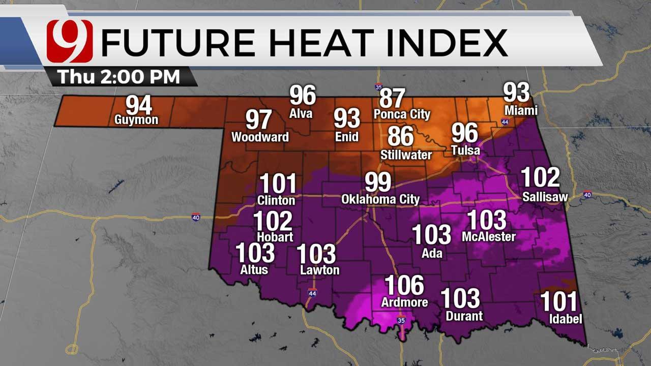 Heat index 7/30