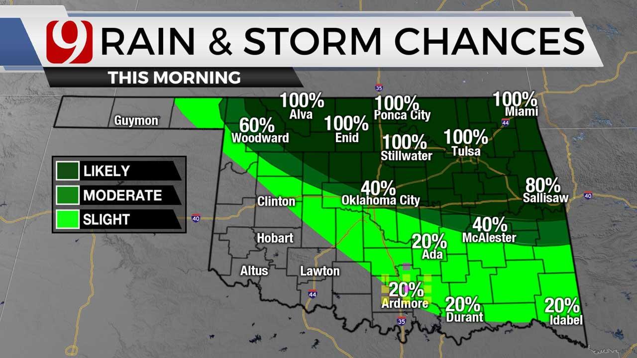 Morning rain chance 7/30