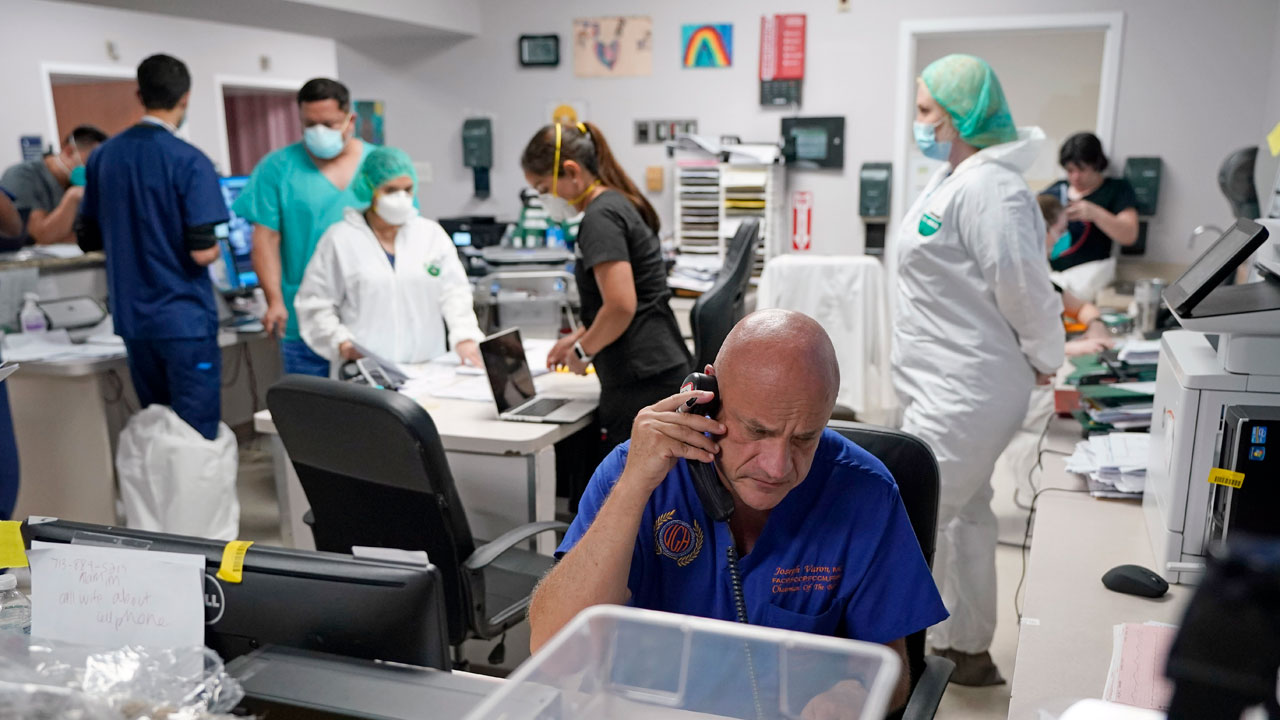 Window Into Virus Surge: Death, Recovery At Houston Hospital