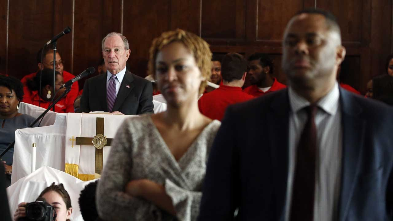 Churchgoers In Selma Turn Their Backs On Bloomberg During Service