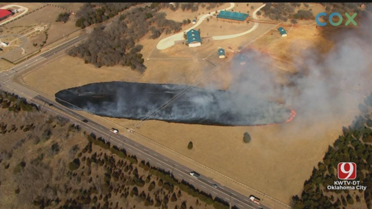 Wildfire Reported In NE OKC
