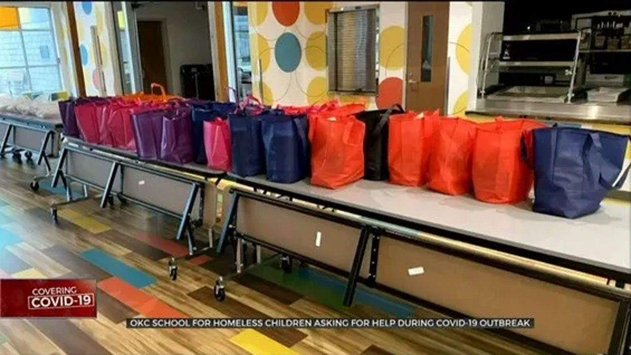 School For Homeless In Need Of Food Donations During Coronavirus Closures