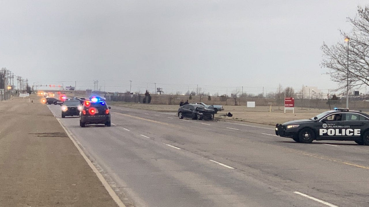 2 Taken To Hospital, 1 In Critical Condition Following Crash In OKC