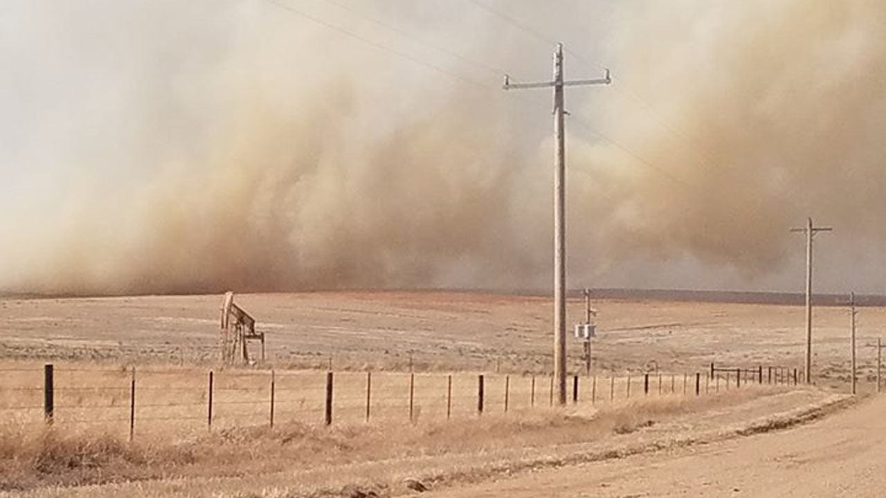 Oklahoma Forestry Service, Multiple Fire Crews Respond To Grass Fire In Beaver County