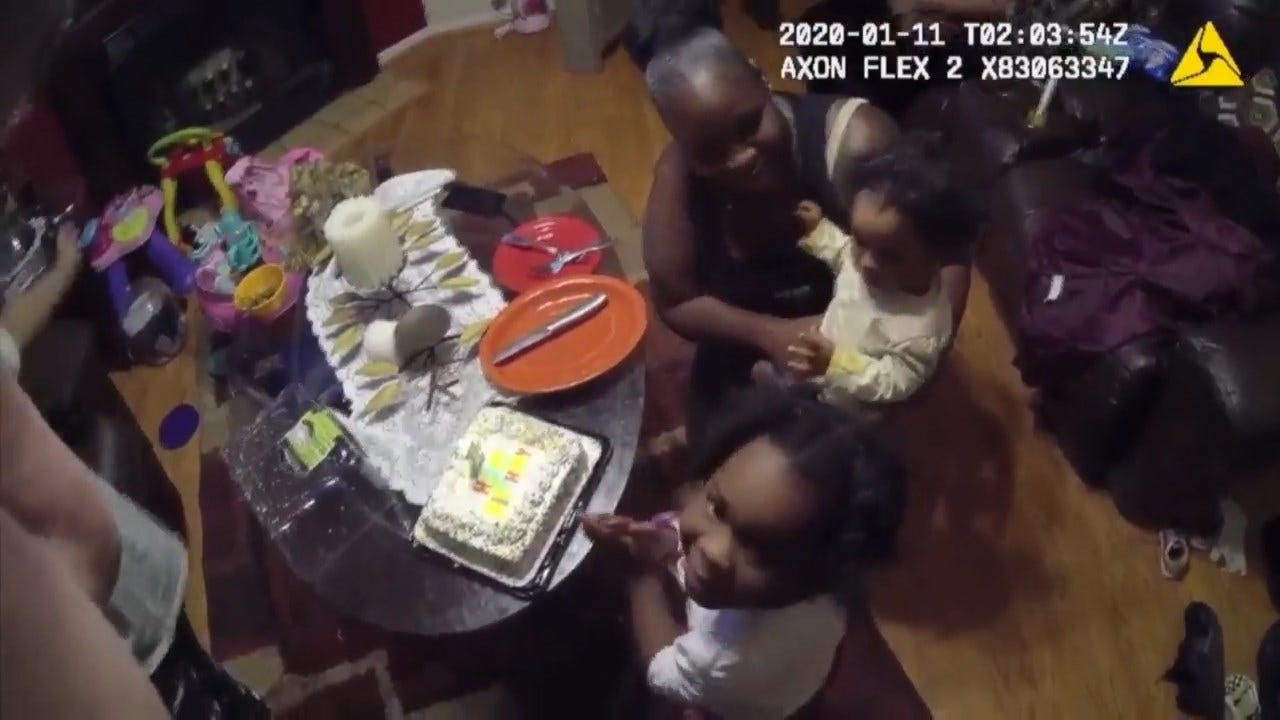 Body Cameras Capture Georgia Officers' Act Of Kindness For Girl's 1st Birthday