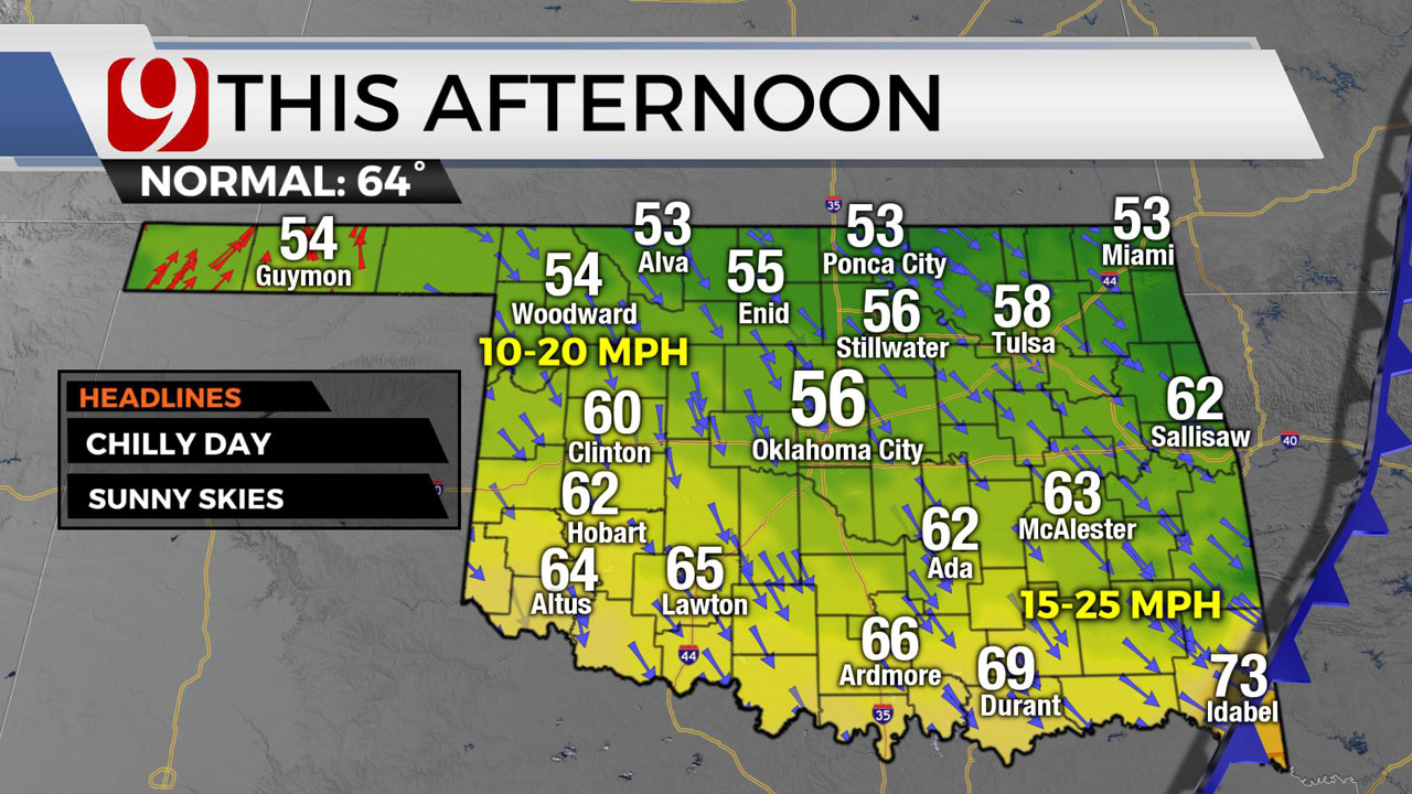 Okla. Sees Falling Temperatures As Strong Cold Front Arrives