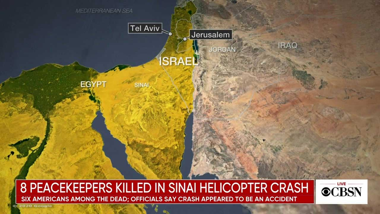 6 Americans Among 8 Peacekeepers Killed In Egypt Helicopter Crash