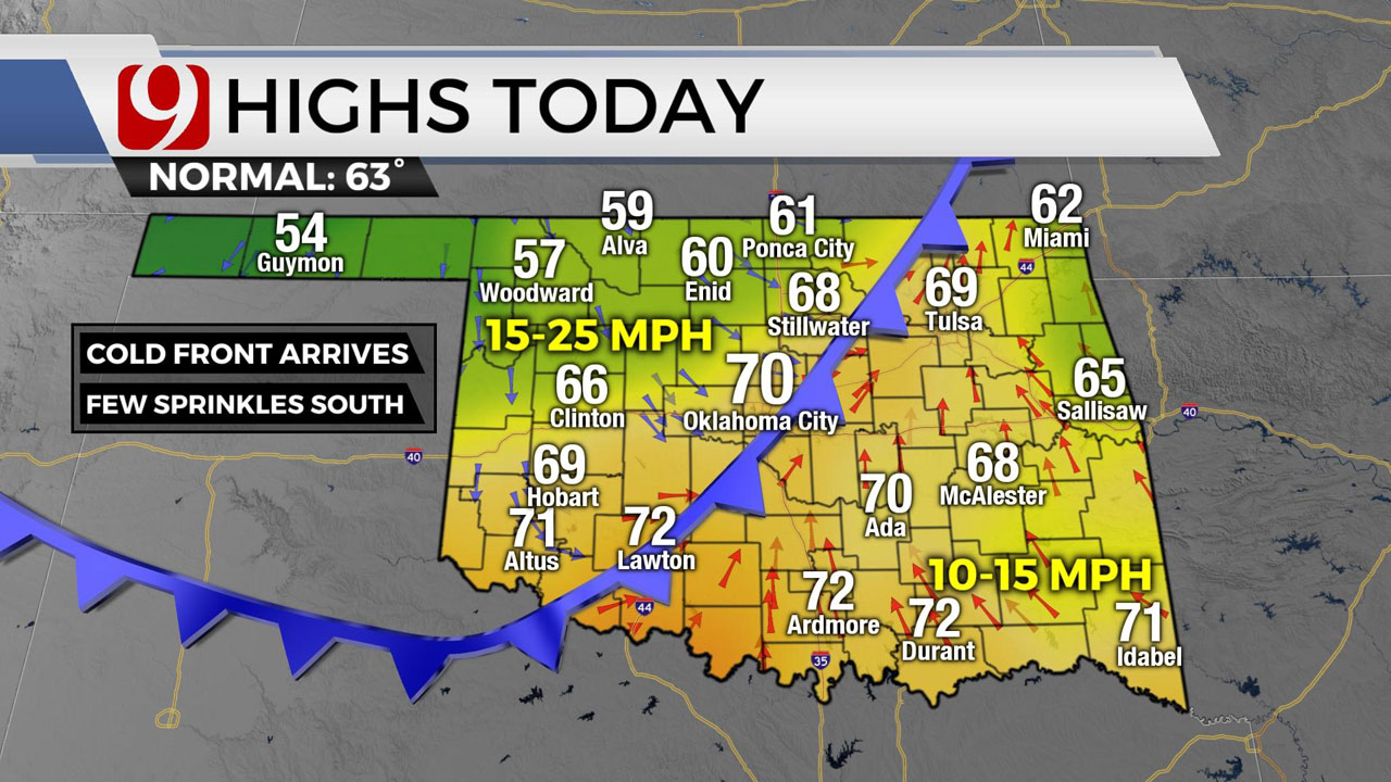 First Of 2 Cold Fronts Arrives Thursday