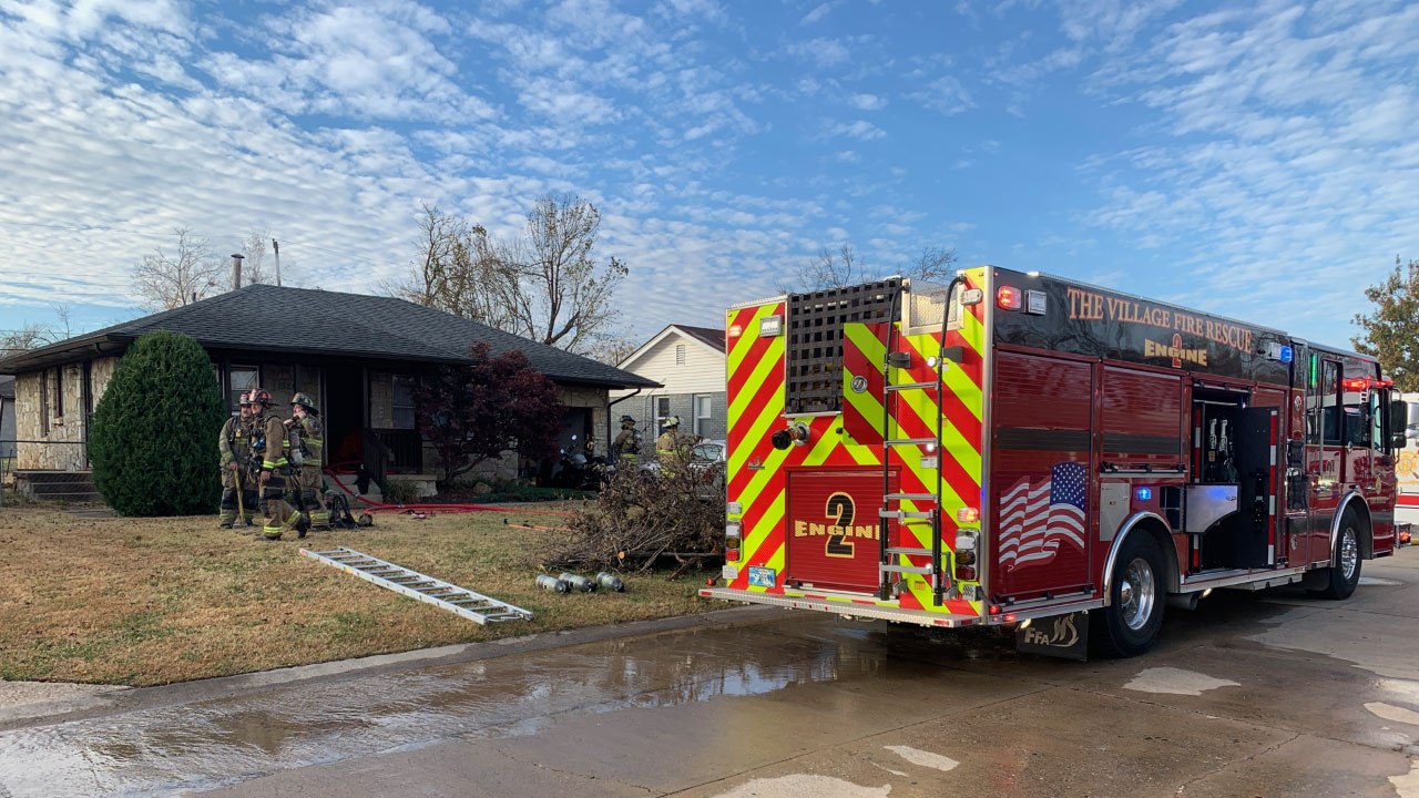 Firefighters Knock Down House Fire In The Village