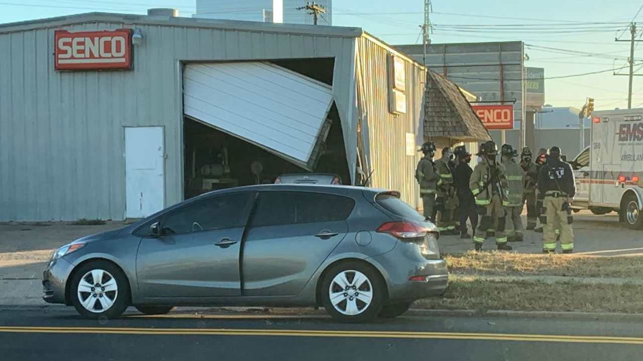 Driver Crashes Into Building In SW OKC