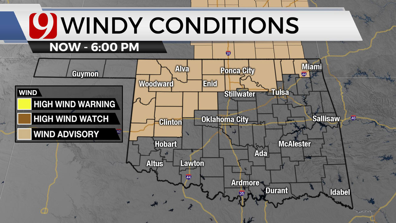 Okla. Sees Windy Wednesday; High To Extreme Fire Threat