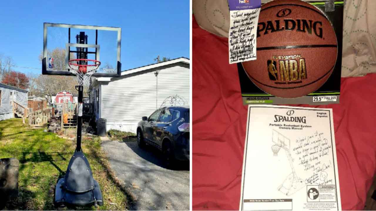 FedEx Driver Surprises Boy With New Basketball Hoop: 'There Are Very Much Still Good People In The World'