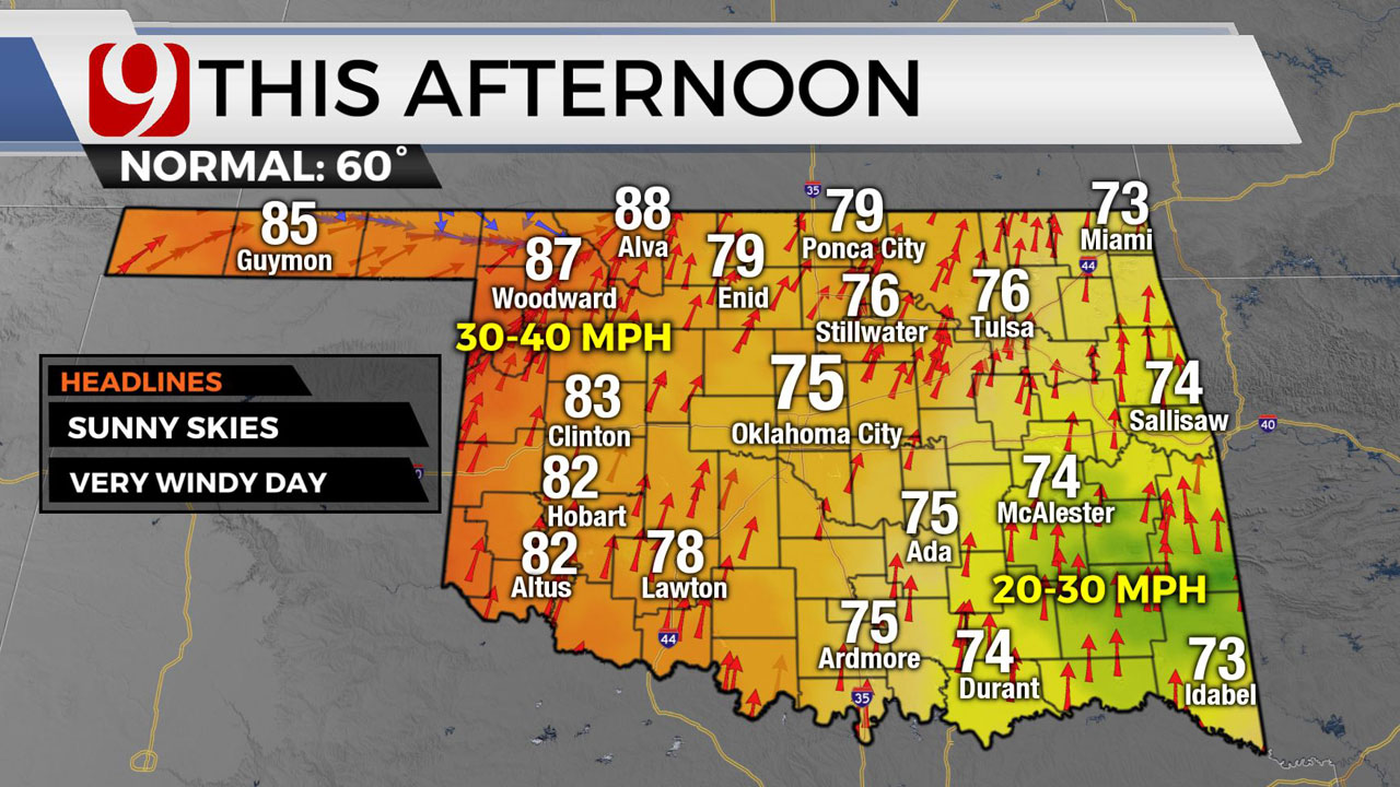 Okla. Sees Another Windy Day Thursday With High Fire Danger