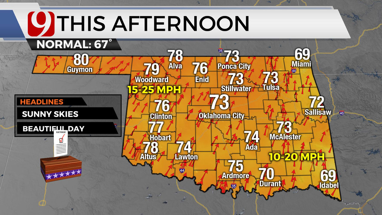 Okla. Sees Chilly Start Before Highs Climb Into 70s