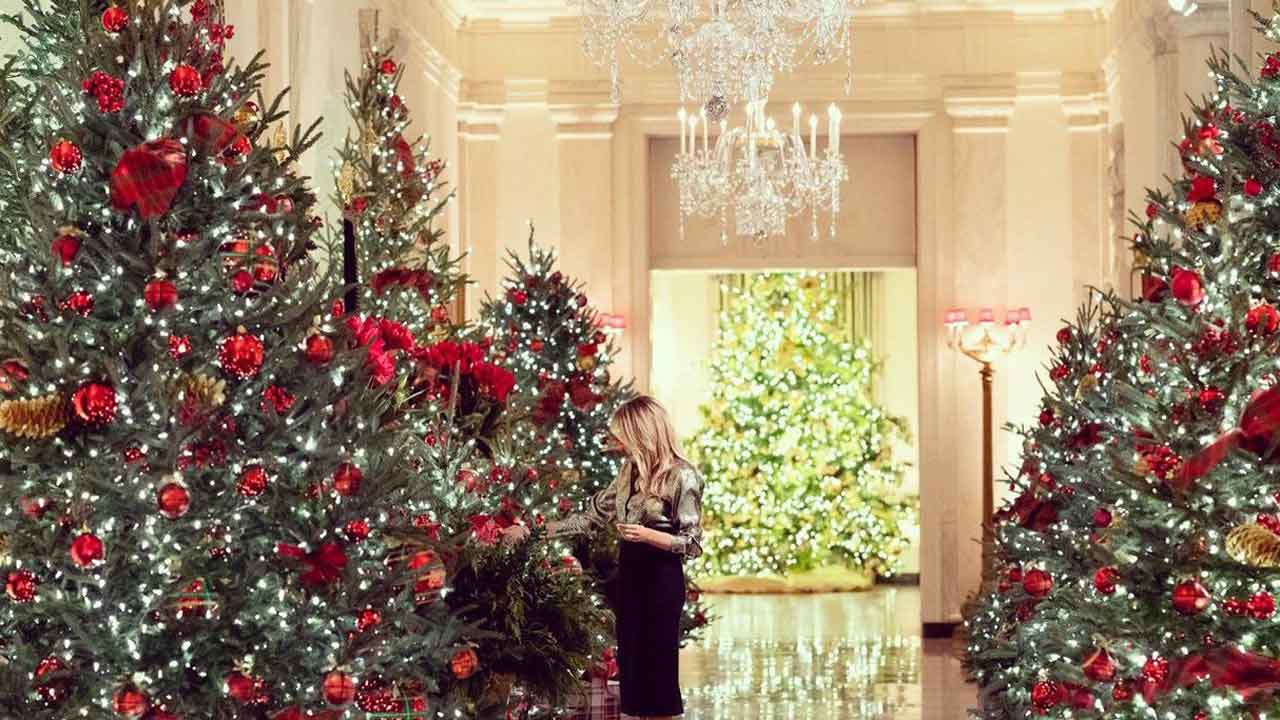 Melania Trump Unveils Christmas Decorations For Final Holiday Season In White House
