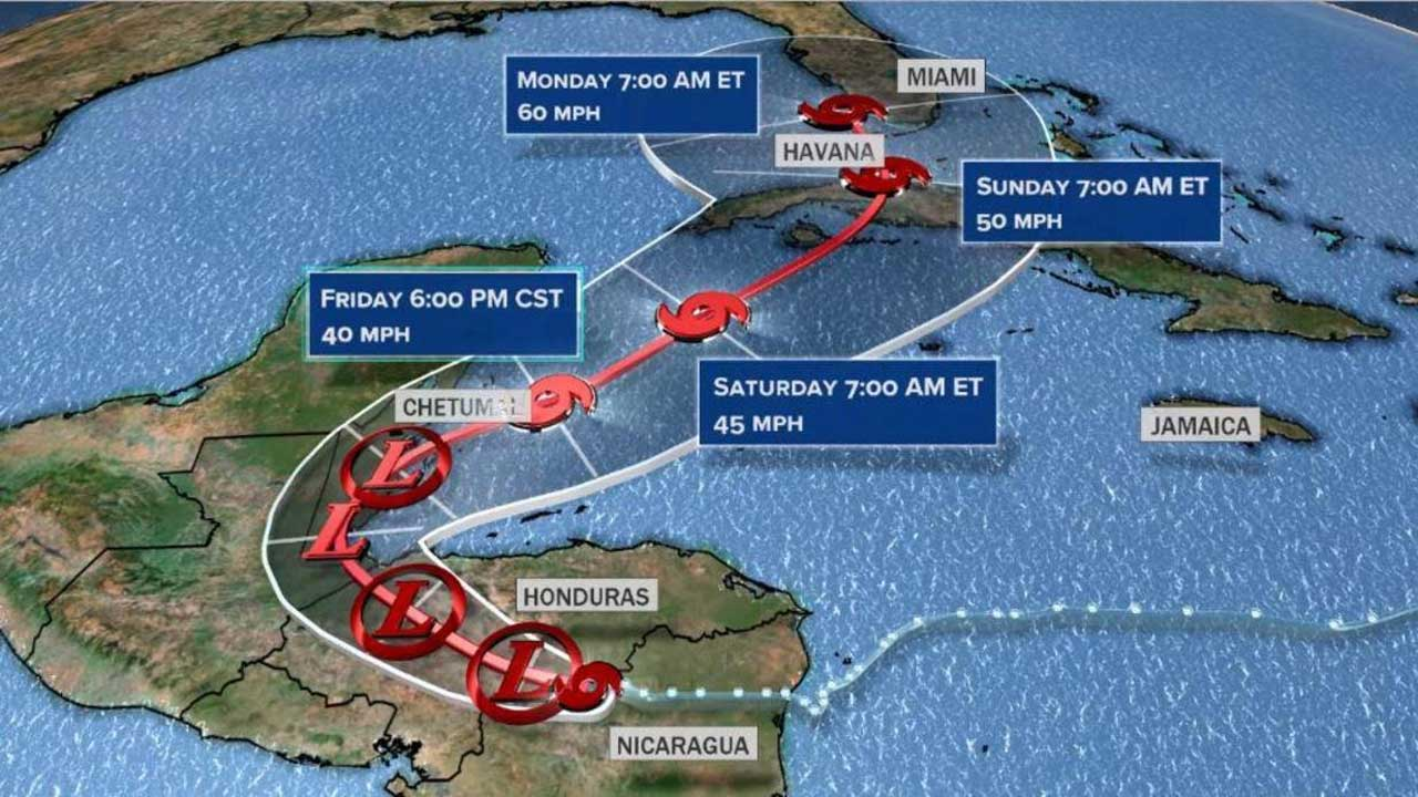 Florida In The Path Of Eta & It Could Become A Hurricane Again