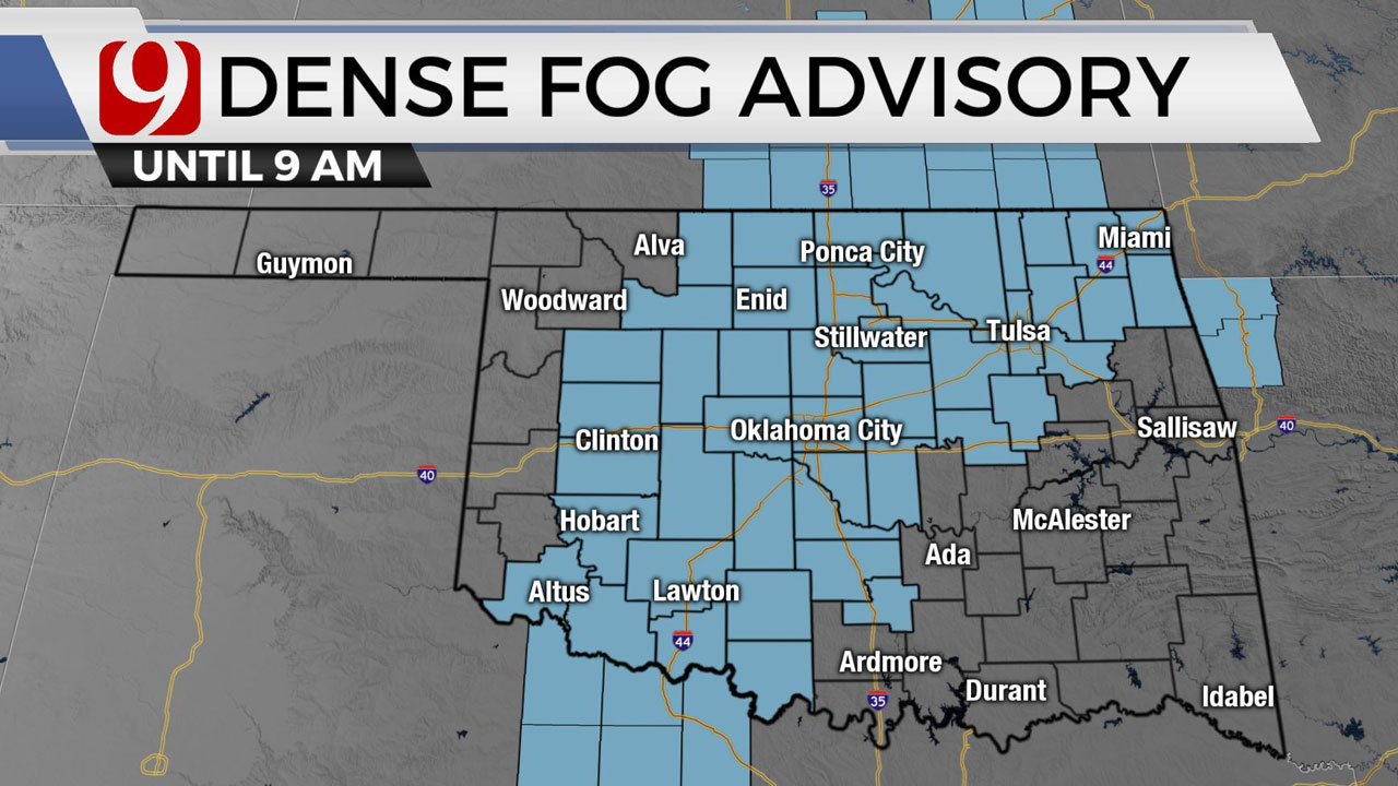 Okla. Sees Dense Fog Friday Morning; Afternoon Sees Sunny Skies, Highs In 70s
