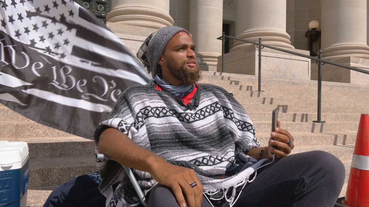 OKC Man Camping At State Capitol For Social Justice