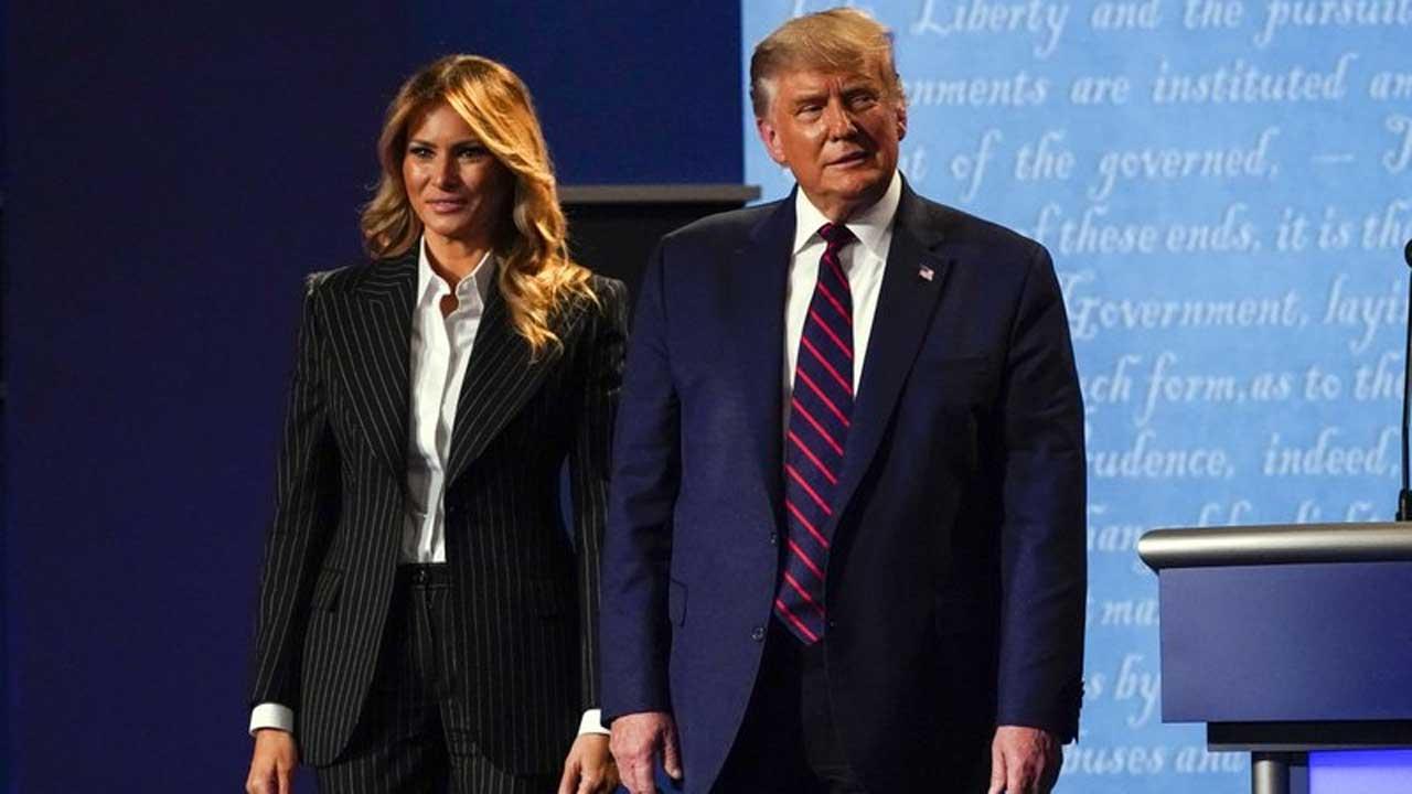 President Trump and Melania at debate