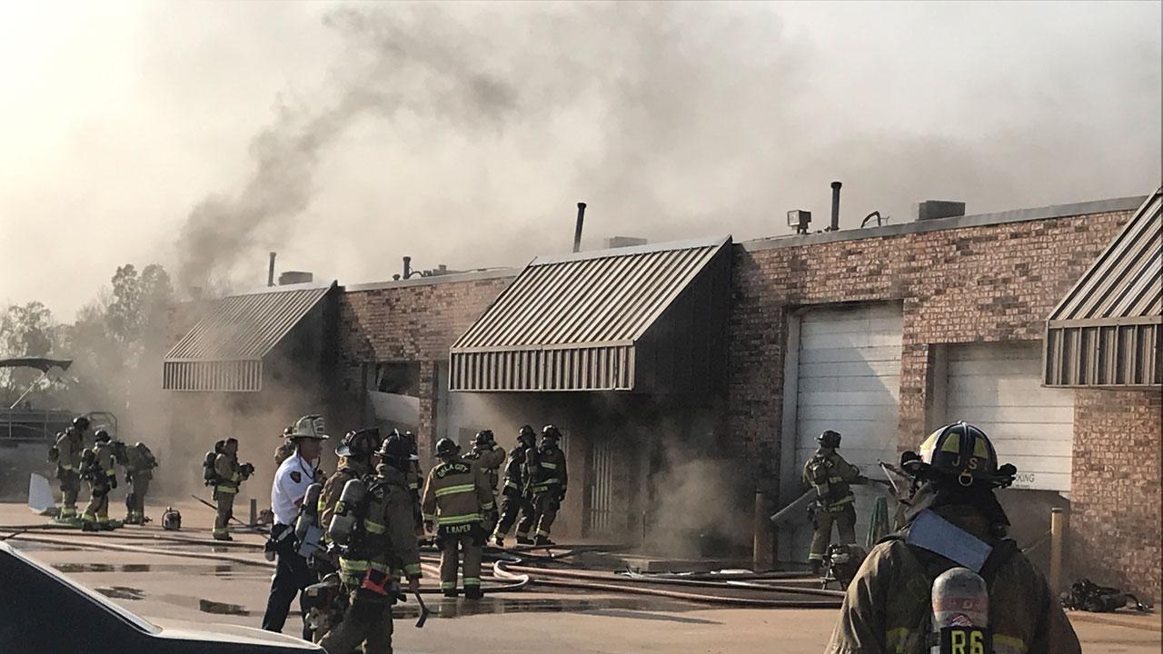 OKCFD Battled NE OKC Structure Fire